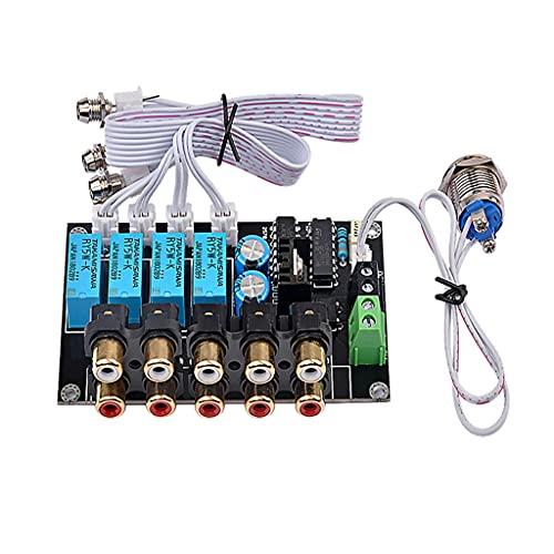 SXYLTNX Amplificador estéreo de Cuatro vías HiFi DC AC Audio Switch Board Control de relé Seleccionar amplificadores Amplificador DIY para Cine en casa