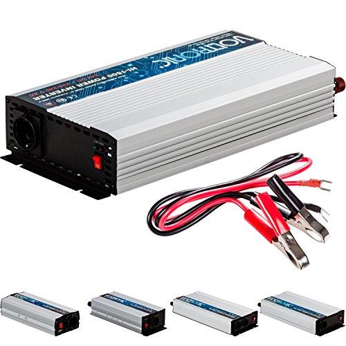 VOLTRONIC® MODIFIZIERTER Sinus Spannungswandler 1500W mit E-Kennzeichen, 24V auf 230V, USB, 3 Jahre Garantie, Stromwandler Inverter Wechselrichter Auto PKW