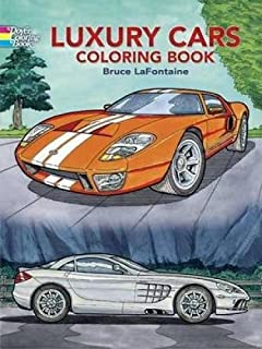 Luxury Cars Coloring Book (Dover History Coloring Book)