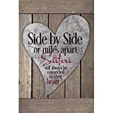 Sisters Wood Plaque with Inspiring Quotes 6x9 - Classy Vertical Frame Wall & Tabletop Decoration |...