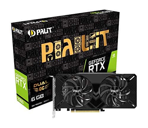 Palit NE62060S18J9-1160A GeForce RTX 2060 6GB GDDR6 Grafikkarte (GeForce RTX 2060, 6GB, GDDR6, 192bit, 7680x4320 Pixel, PCI Express 3.0)