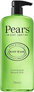 Pears Pure & Gentle Shower Gel, Body Wash with Oil Clear Formula for Removing Excess Oil with Lemon Flower Extracts, 100% ...