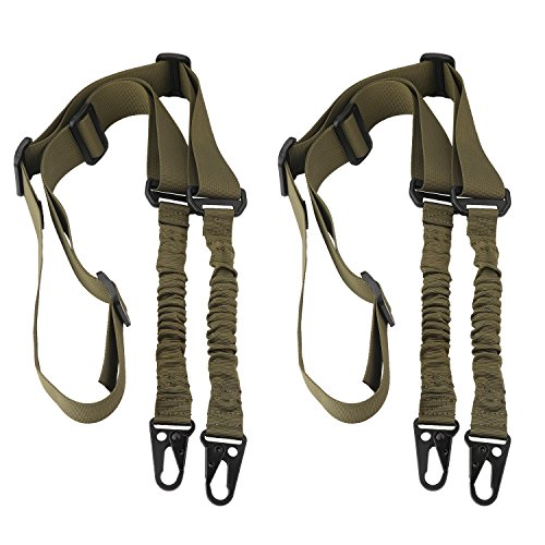 Accmor 2 Point Rifle Sling Extra Long Gun Sling Traditional Sling with Metal Hook for Outdoor...