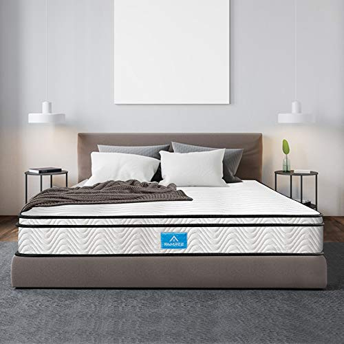 Twin Mattress 8 inch, 7 Zone Memory Foam Mattress Single Medium Firm Feel Hybrid Mattress with Soft Fabric Fire Resistant Barrier(39' 75')