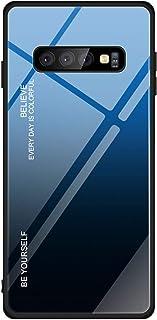 fa1bb6bf294 Hexcbay Estuche de Vidrio de la Serie Compatible con Samsung Galaxy S10  Estuche de Vidrio Templado