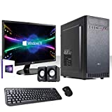 PC DESKTOP COMPLETO INTEL QUAD CORE I3-8100 3,6 GHZ 8°GEN/LICENZA WINDOWS 10 PRO 64 BIT/WIFI...
