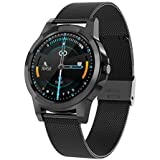 Smart Watch with Heart Rate Monitor, Blood Pressure, oximeter, Sleep Monitoring, Multiple Exercise Modes, Health Data Recording, IP68 Waterproof Bluetooth Sports Watch