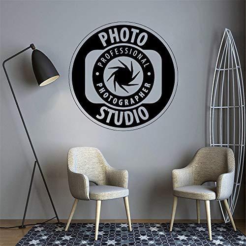Estudio pared calcomanía fotografía vinilo pared pegatina cámara Art Deco póster papel tapiz extraíble pegatina de pared A1 57x57cm