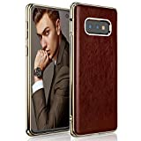 LOHASIC Galaxy S10e Case, Premium Leather Luxury Slim Soft Flexible Hybrid Bumper Non-Slip Grip, Anti-Scratch Shockproof Full Body Protective Phone Cover Cases for Samsung Galaxy S10e (2019) - Brown