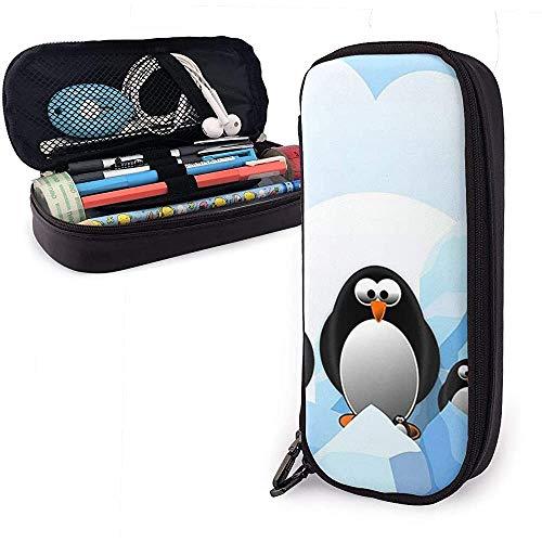 Taschenbeutelhalter Stifttasche Federmäppchen Schule Bür Bleistiftbeutel Pinguin Antarktis Eis Bleistift Fall Bleistift Aufbewahrungstasche Stifthalter