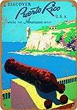 Vintage-Metall-Blechschild Puerto Rico, Reise-Poster für