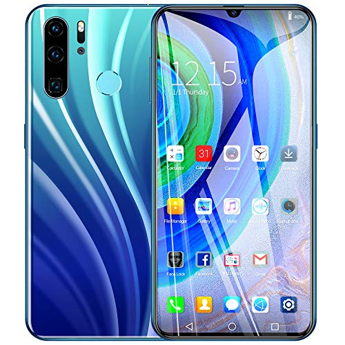 Price comparison product image Aoile P40 PRO Factory Unlocked International Versio,  6.3 inch Full High-Definition Screen Smartphone with Face Recognition Gradient Blue-EU Plug
