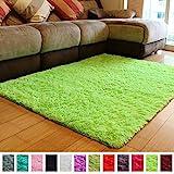 PAGISOFE Soft Boys Girls Room Rug Baby Nursery Decoration Carpet 4' x 5.3',Lime Green