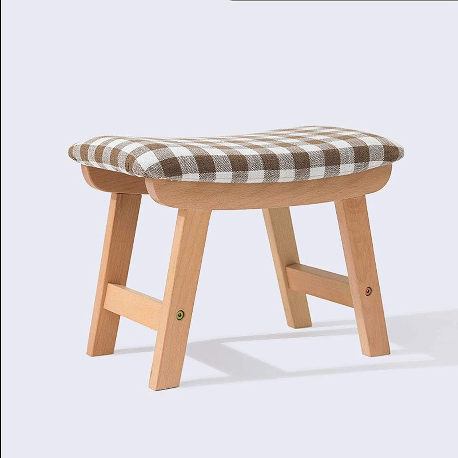 LPD Brands Low Stool Change shoes Bench Solid Wood Chair Cloth Footstool Seat Sofa Stool Small Bench (color   Style)