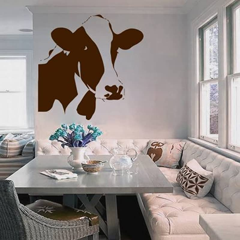 Wall Decals Domestic Animals Cow Head Bedroom Living Children Any Room Design For Farms Vinyl Decal Sticker Home Decor L458 22x22