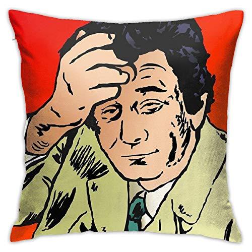 Fundas de Cojines Columbo Deep Thinking Fundas de Cojines Decorativos con Personalidad Bonita, Fundas de Cojines de 18x18 Pulgadas para sofá, Dormitorio, Coche