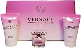 Versace Bright Crystal 3Pcs Combo Gift Set (Perfume Shower Gel Body Lotion)