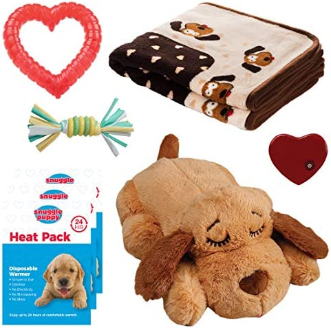 SmartPetLove Snuggle Puppy Heartbeat Stuffed Toy Pet Anxiety Relief and Calming Aid Biscuit product image
