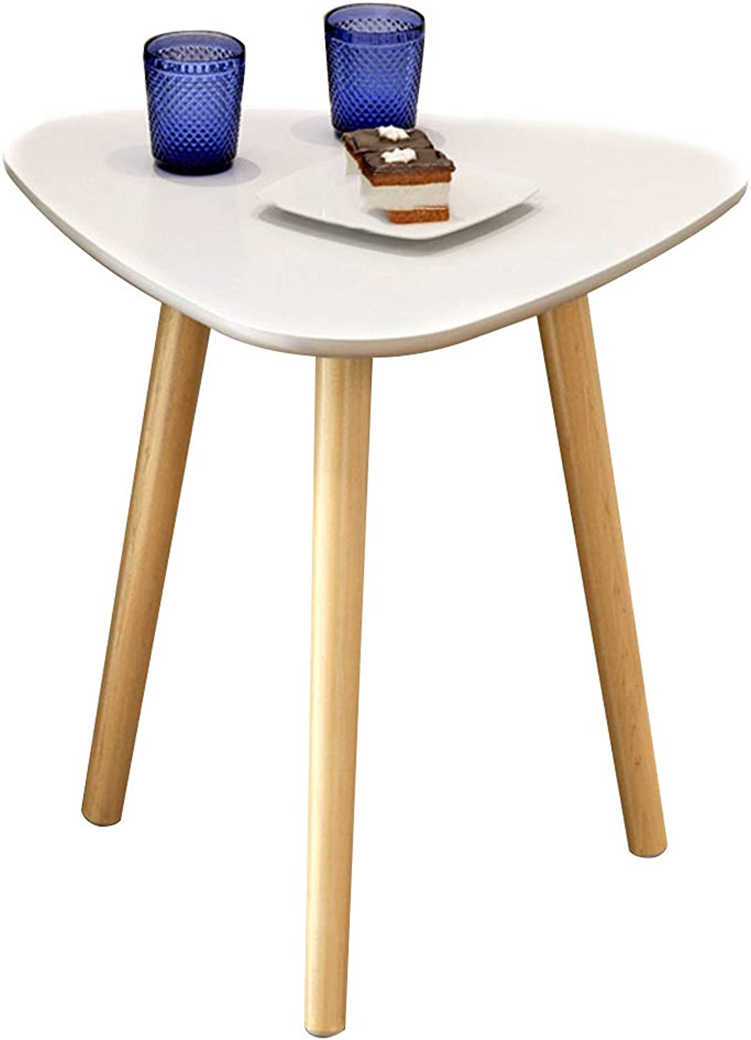 Coffee Table Solid Wood Coffee Table, Simple Corner Table, Suitable for Small Apartment Living Room Sofa Side 4 Size (Size   35  35  42cm)