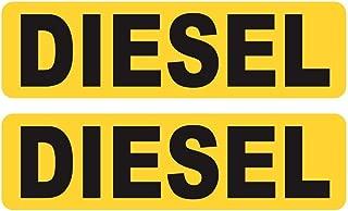 Ahomi recordatorio de 2 Piezas Combustible Diesel Sólo calcomanías Reflectantes Divertidas para Auto calcomanías (Oro)