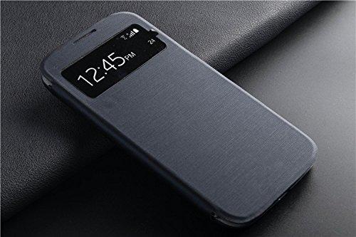 Funda Samsung Flip Cover para Galaxy S4 S-View GT-I9500 GT-I9505 EF-FI950B, máxima protección contra caídas y golpes