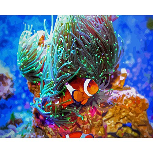 Pintar por Numeros Monstruo de algas Pintar por Numeros para Adultos Pintura de Bricolaje sobre Lienzo con Pinceles y Pinturas - 16 * 20 Pulgadas 40x50cm(Sin Marco)