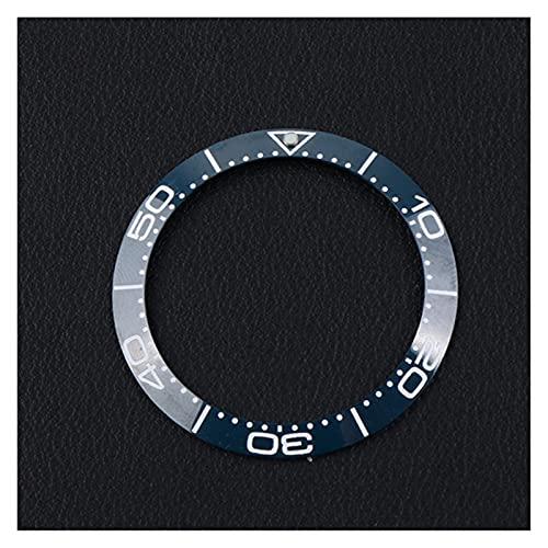 ZRNG 38-30.8mm Inserción de cerámica Ajuste para 41 mm Fit para Omega Bisel Sea Master 007 Relojes Relojes de Cara Reemplazar Accesorios Piezas Colorful Ring (Color : 10)