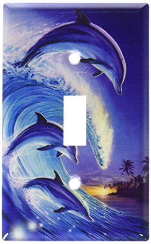 Art Plates - Dolphins in the Wave Switch Plate - Single Toggle