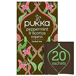 Pukka Organic Herbal Tea Peppermint & Licorice 20 Tea Bags