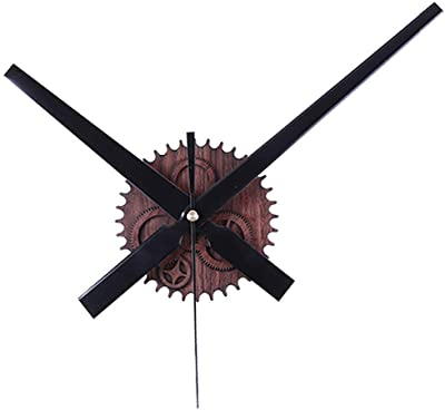 SODIAL Retro Noiseless Wall Clock Silent Movement Kit Mechanism Parts with Clock Hands Wall Clock DIY