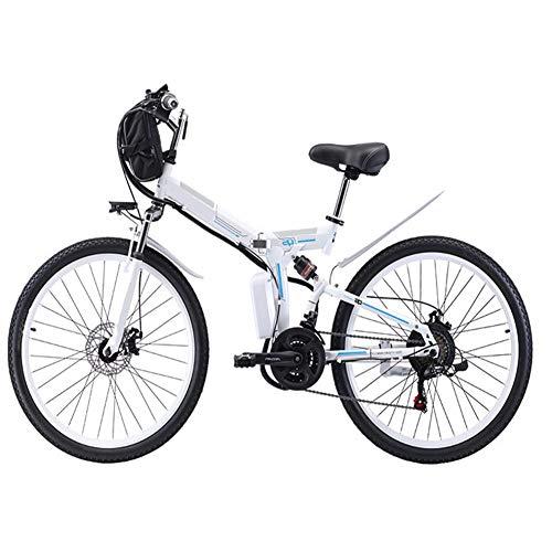 HSTD Bicicletta Elettrica Pieghevole - Mountain Bike Elettrica, Batteria...