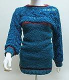 Pullover, Damen-Pullover, Rundhals-Pullover, Grobstrick Pullover, Zopfpullover, Winterpullover, Langarm-Pullover, Pullover in Petrol