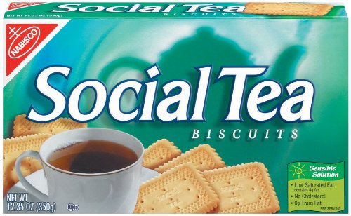 Social Tea Biscuit,12.35-Ounce Boxes (Pack of 6)