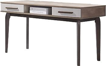 Maison Concept Martini Writing Desk, Brown - W580 x H750 x D1200 mm