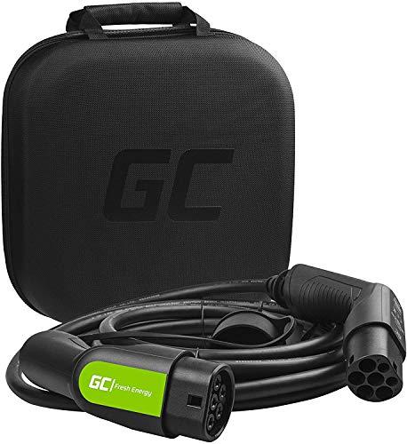 Green Cell® GC Type 2 Ladekabel für EV Elektroautos PHEV | 11kW | 16A | Typ 2 auf Typ 2 | 7 Meter | 3-Phasig | Kompatibel mit Model S / 3 / X/Y, ID.3, i3, Taycan, Leaf, ZOE, Kona Electric, e-208