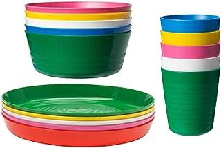 comprar comparacion IKEA KALAS - Juego de 6 vasos y platos para niños, multicolor