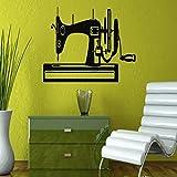 M&OURNM Etiqueta de la Pared máquina de Coser Silueta de diseño Creativo Pegatinas de Pared hogar Dormitorio Arte Moderno Decorativo Vinilo Pared Mural calcomanías 81x42cm
