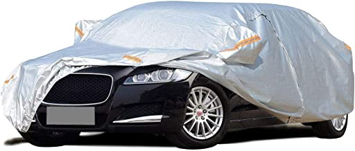 Car Cover Compatible with Jaguar XEL/All-Weather Car Clothing Four Seasons Universal Car Cover Indoor and Outdoor Mobile Garage Snowproof Warm Car Clothing (Color : Silver Grey)