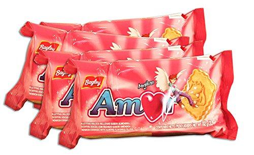 PACK de 4 paquetes de Galletitas AMOR de BAGLEY. Galletitas
