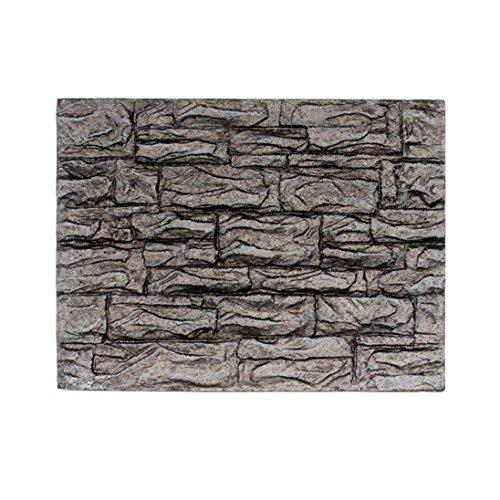 HUHU833 3D Foam Rock Reptile Stone Aquarium Background Fish Tank Board Decor (B)