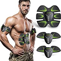 HOPOSO Electroestimulador Muscular Abdominales, Estimulación Muscular Masajeador Eléctrico Cinturón Abdomen/Brazo/Piernas/Glúteos (A1)