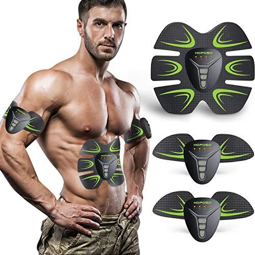 HOPOSO Estimulación Muscular Masajeador, Electroestimulador Muscular Abdominales Eléctrico Cinturón Abdomen/Brazo/Piernas/Glúteos