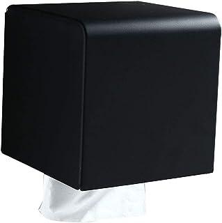 WC-papier houder Black reel doos van het weefsel wc-papier mand Hotel roestvrijstalen toiletrolhouder Plat (Kleur: zwart, ...