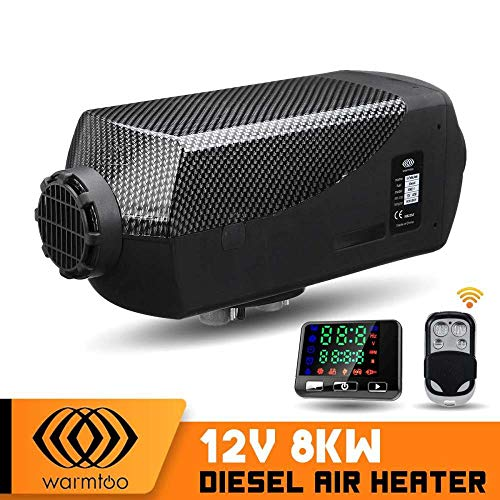 Sthfficial Diesel Luchtverwarming 12 V 8000 W LCD thermostaat afstandsbediening van metaal Shell auto parking verwarming machine voor vrachtwagens boten caravans RV bus Zwart