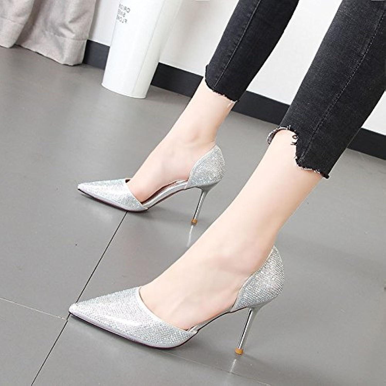 Xue Qiqi Wasser bohren Butt, aufgeschlüsselt nach Frauen Schuhe tipp Licht gebrochen - Set foot high-heel Schuhe einzelne Schuhe Frauen