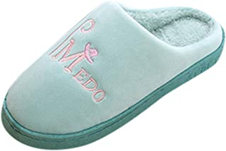 KAIXLIONLY Women's House Slippers,Memory Foam Slippers Warm Plush Lining Slip on House Shoes with Anti-Skid Rubber Sole