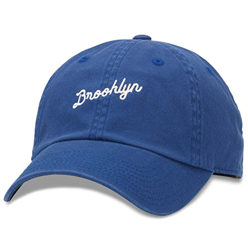 AMERICAN NEEDLE Brooklyn Board Shorts Slouch Adjustable Strapback Hat Blue