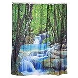 Alicemall Duschvorhang 180 x 200 3D Bad Wasserdicht Anti-Schimmel Vorhang (180x200 Wasserfall)