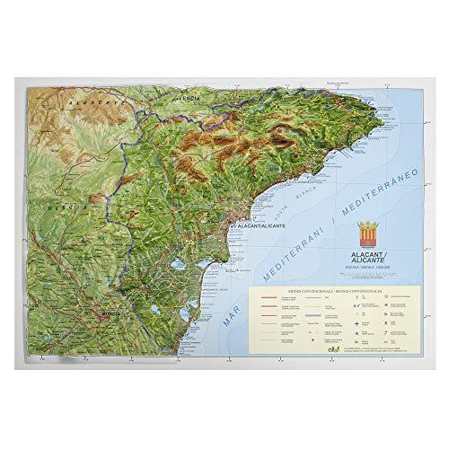 Mapa en relieve de Alicante: Escala 1:150.000
