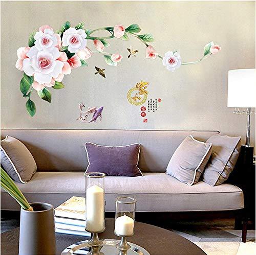 Sticker Decals Wallpaperhome en rijkdom muur Stickers garderobe kast koelkast glazen deur TV-bank achtergrond decoratie